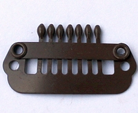 Hairclip 24 mm., 7-teeth, Colour: Brown