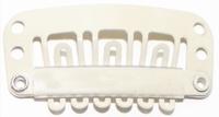 Haarclip 28 mm., U-shape 6-teeth, Kleur: Blond