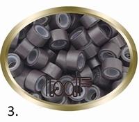 Micro Ring aluminium siliconen type,, kleur *3-Donker bruin