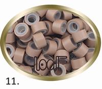 Micro Ring aluminium siliconen type,, kleur *11-Licht Bruin