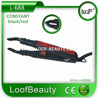 Hairextensions Iron, color Black/Red,