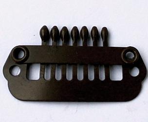 Haarspange 24 mm, 6-Zähne, Farbe: Dunkel Braun