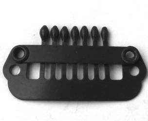 Haarclip 24 mm., 7-teeth, Kleur: Zwart