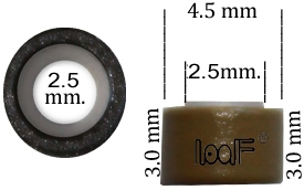 Micro Ring aluminium siliconen type,, kleur *5-Bruin