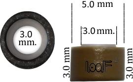Micro Ring aluminium silicone type, color *Burgundy