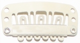 Hairclip 24 mm., 6-teeth, Colour: Blond