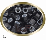 Microringen, Silikonen Ausführung, Farbe *1-Schwarz