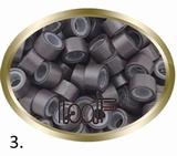 Micro Anneau aluminium type silicone, couleur *3 -brun foncé
