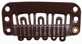 Hairclip 24 mm., 6-teeth, Colour:  Dark brown