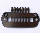 Hairclip 24 mm., 7-teeth, Colour: Brown