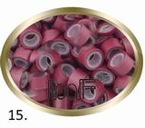 Micro Anneau aluminium type silicone, couleur *Burgundy