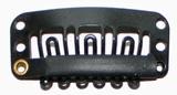 Hairclip 28 mm., U-shape 6-teeth, Colour: Black