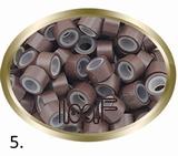 Micro Anneau aluminium type silicone, couleur *5 -brun