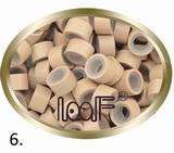 Micro Anneau aluminium type silicone, couleur *6-Gris-Blonde